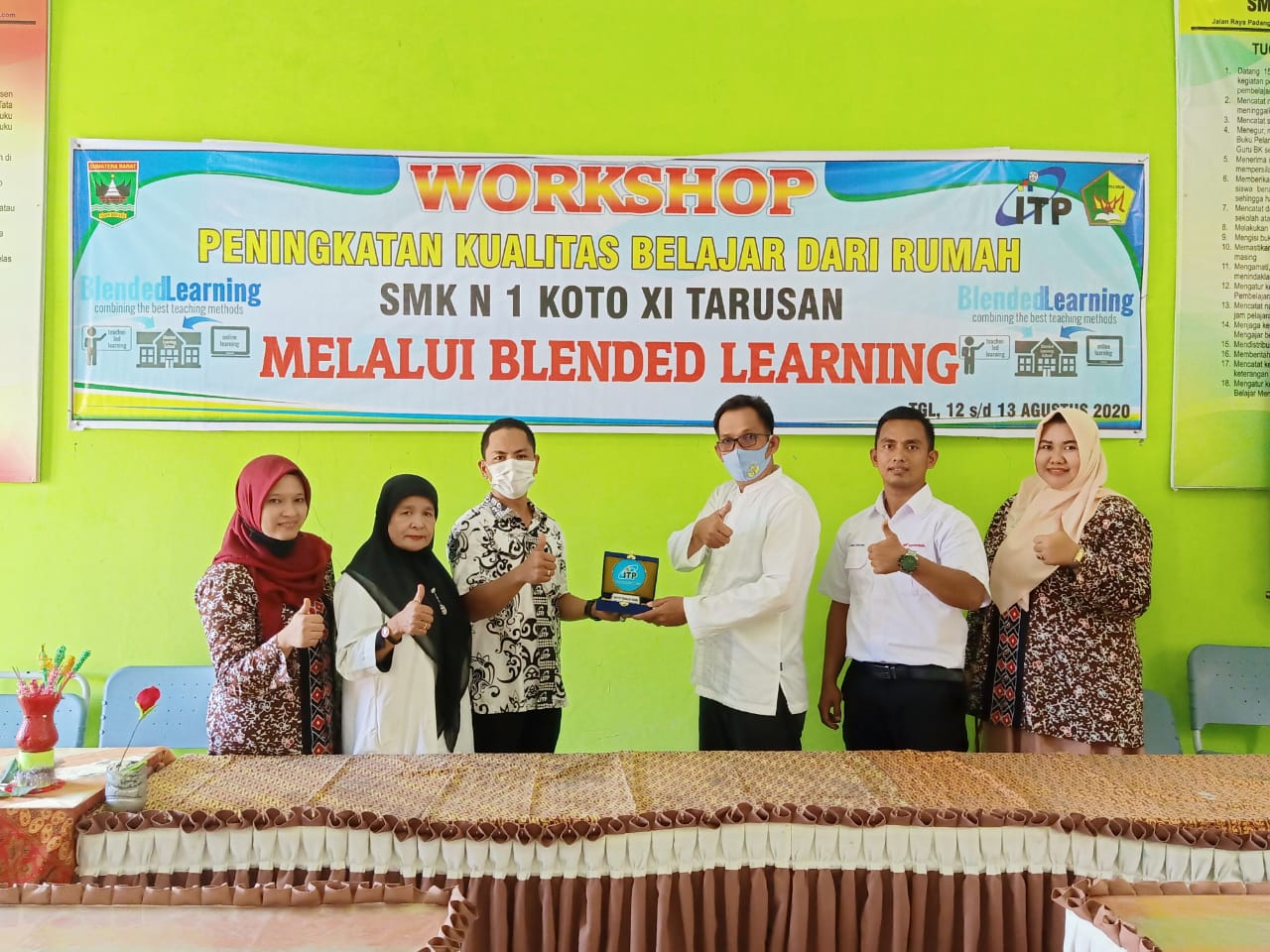 Workshop Peningkatan Kualitas Belajar dari Rumah SMK N 1 Koto XI Tarusan