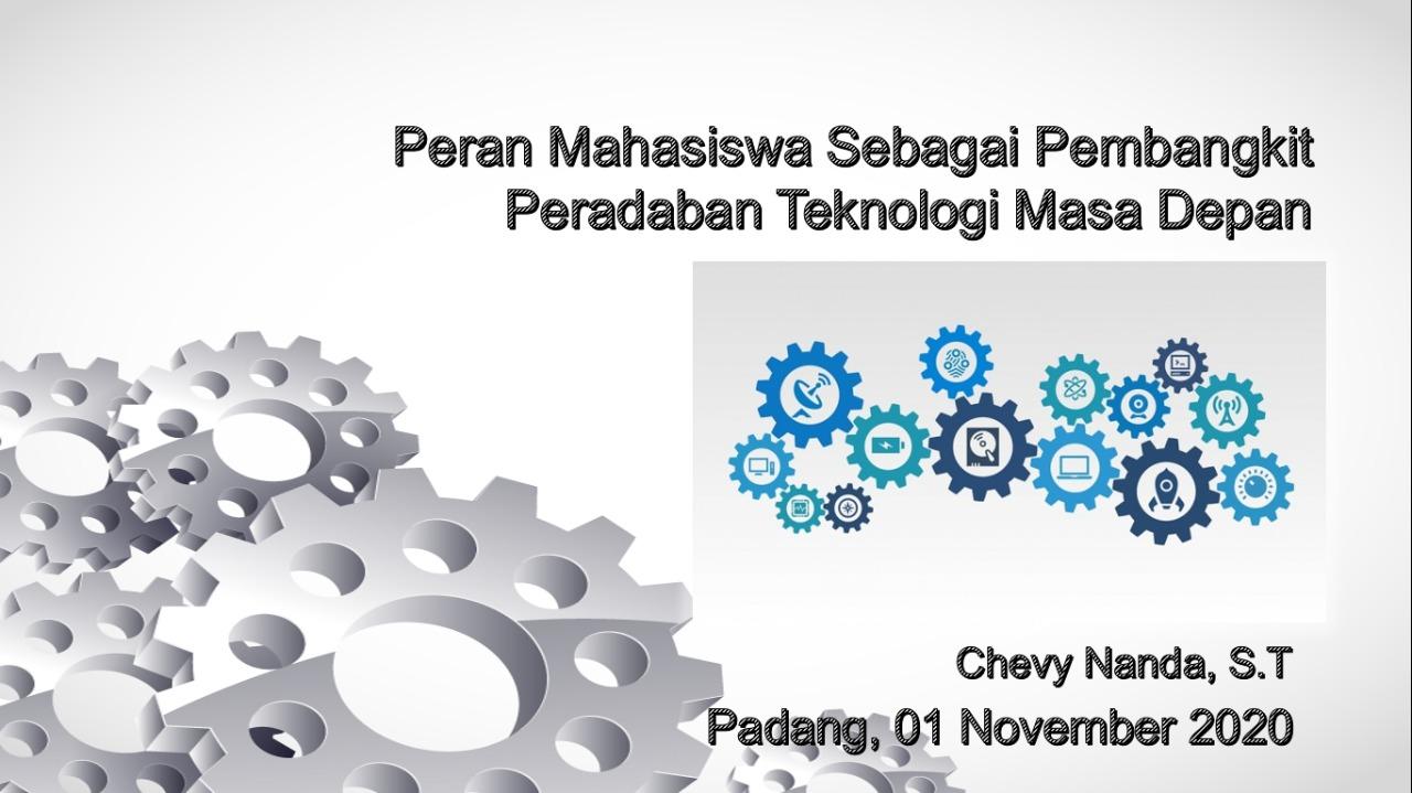 "Kegiatan Webinar HIMA Teknik Elektro ITP dengan Tema ""Peran Mahasiswa Sebagai Pembangkit Peradaban Teknologi Masa Depan"""